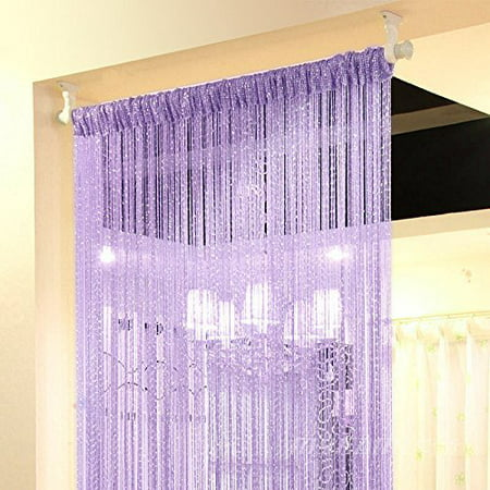 Moaere Door String Curtain Beads Window Panel Room Divider Crystal Tassel Fringe Beaded Today's Specials ()