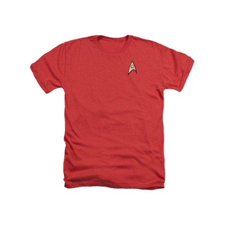 Star Trek TV Series Scotty Engineering Uniform Red Adult Heather T-Shirt Tee