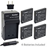 Kastar Battery (4_Pack) and Charger Kit for Panasonic DMW...
