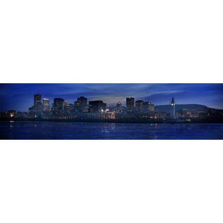 Panoramic Of Skyline At Dusk Montreal Quebec Posterprint
