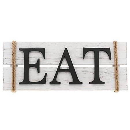 Barnyard Designs Eat Wood Wall Art Sign Rustic Primitive Farmhouse Country Kitchen And Home Decor 17 X 7nbsp