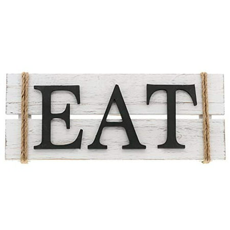 Barnyard Designs Eat Wood Wall Art Sign Rustic Primitive Farmhouse Country Kitchen and Home Wall Decor 17