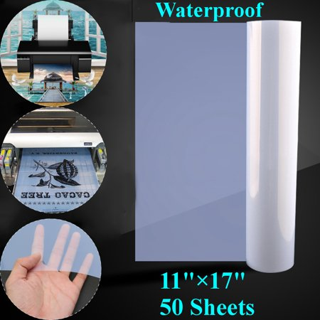 11''x17'' PET Waterproof Inkjet Transparency Film Screen Printing 50 Sheets ()
