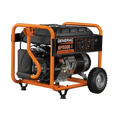 Generac 5939 - 5500-Watt Gasoline Powered Portable Generator, 49