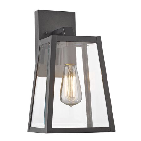 Mountain Outdoor Sconce - CHLOE Lighting LEODEGRANCE Transitional 1 Light Black Outdoor Wall Sconce 14