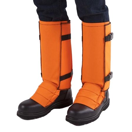 crackshot men's snake bite proof guardz gaiters, blaze orange, xxx-large thumbnail