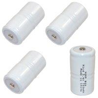 HQRP 4-Pack Battery for TIF8800, TIF8800A, TIF8806, TIF8806A, TIF8850, TIF8900-A Combustible Gas Detector Meter Test Equipment, NP-5459, NP5459 Robinair + HQRP Coaster