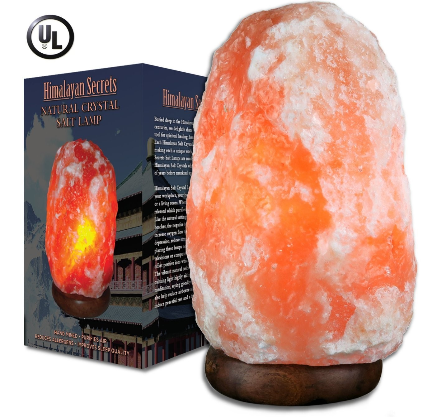 Natural Salt Lamp 9 to 12 lb by Himalayan Secrets LLC