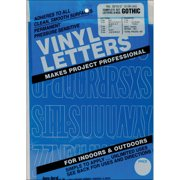 "Permanent Adhesive Vinyl Letters & Numbers 2"" 167/Pkg-Blue"