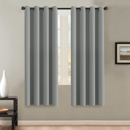 H Versailtex Insulated Thermal Blackout 72 Inch Long Grey