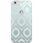 OTM Classic Prints Clear Phone Case for Apple iPhone 6, Green Elm Frost