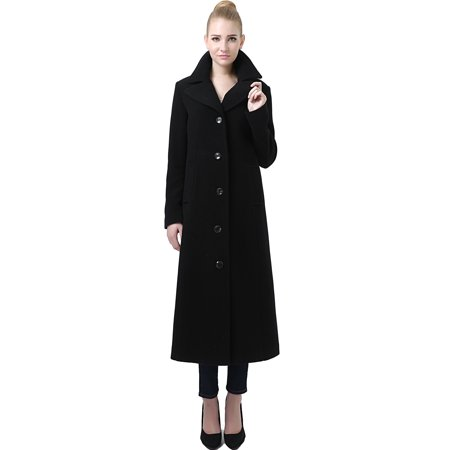 Jeanette' Wool Blend Long Walking Coat