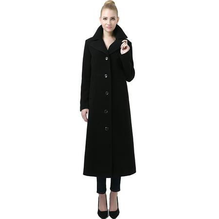 - Jeanette' Wool Blend Long Walking Coat