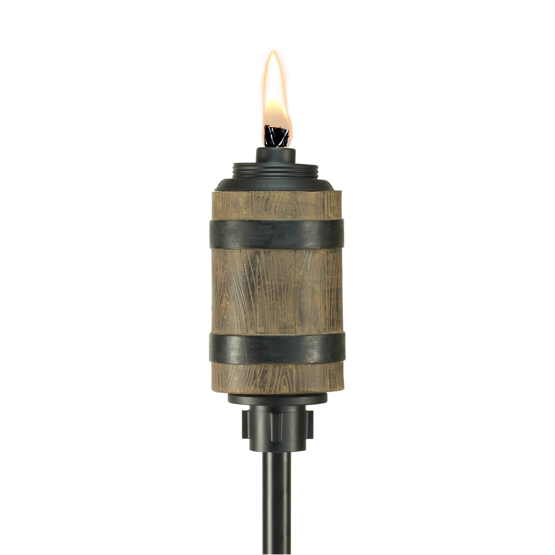 TIKI Brand 65-Inch Tiki Barrel Resin Torch Brown by Lamplight Farms