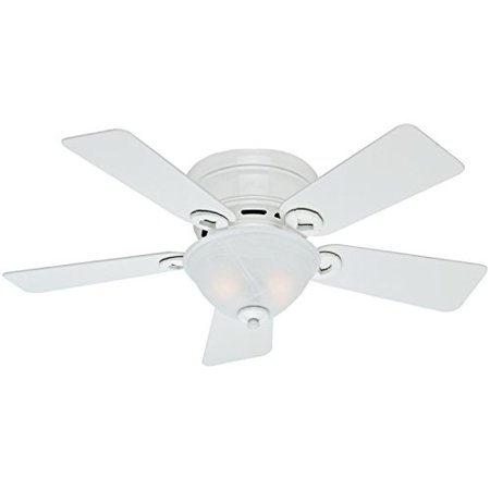 Hunter Fan Company 51022 Conroy 42-Inch Snow White Ceiling Fan with Five Snow White Blades and a Light