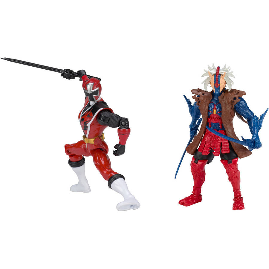 Power Rangers Ninja Steel Red Ranger vs Ripcon by Bandai America