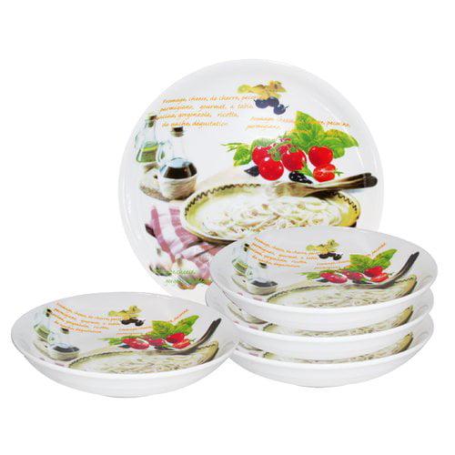 Lorren Home Trends 5 Piece Pasta Bowl Set by Lorren Home Trends