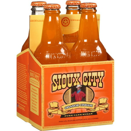 Sioux City Orange Cream Soda, 12 fl oz, 4 pack, (Pack of 6) (Party City Sioux Falls)