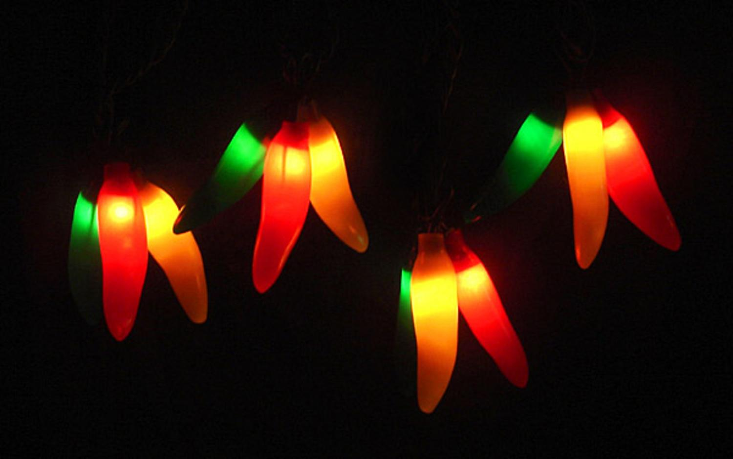 Set of 36 Red, Yellow & Green Chili Pepper Cluster Christmas ...
