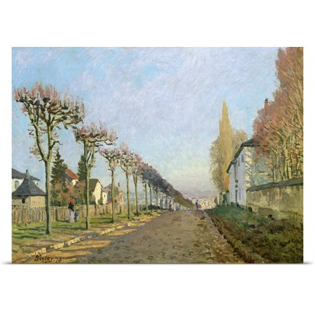 Great Big Canvas Alfred Sisley Poster Print Entitled Rue De La Machine  Louveciennes  1873