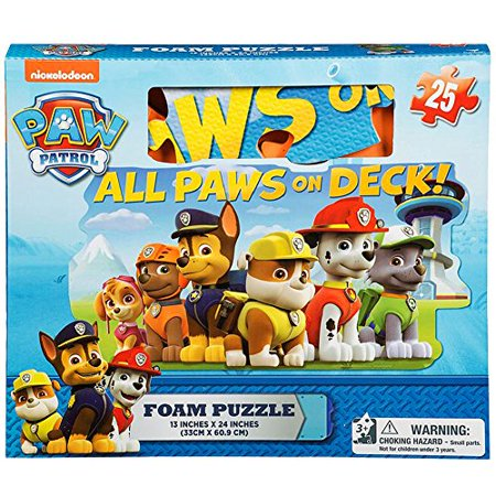 Paw Patrol Foam 25 Piece Floor Puzzle by - Paw Patrol Halloween Puzzle