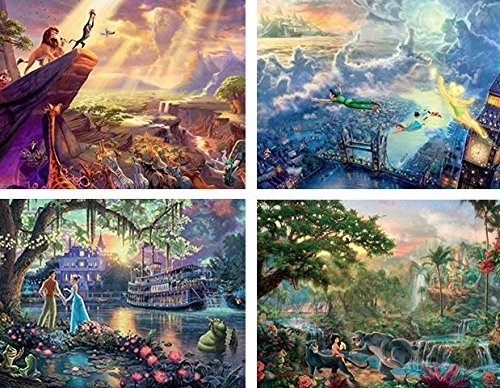 4-in-1 Multi-Pack Thomas Kinkade Disney Dreams Collection Jigsaw Puzzle ( 500 Pieces ), 4 in 1 500 pieces By... by