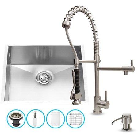 Vigo Industries Vg15350 Undermount Kitchen Sink And Faucet Set Stainless Steel