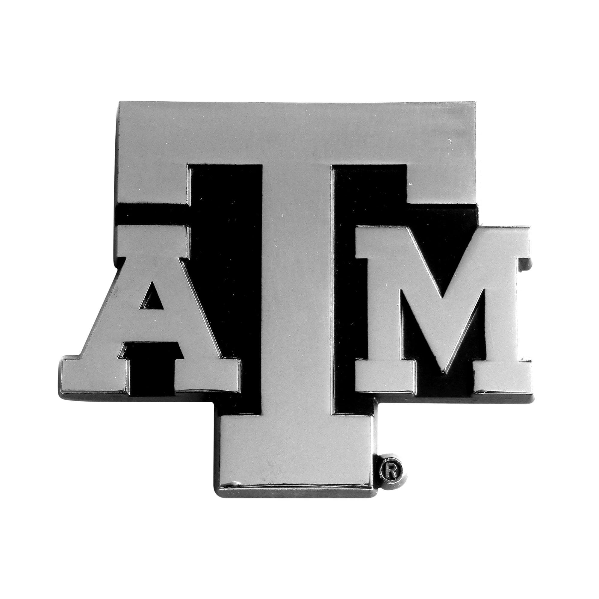 Texas A&M University Chrome Car Emblem