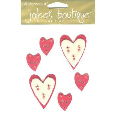 Jolees Boutique Stickopotamus Felt Heart Stickers SPJC011 -