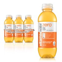 (12 Bottles) Vitaminwater Zero Rise Enhanced Water, Orange, 16.9 Fl Oz, 6 Count