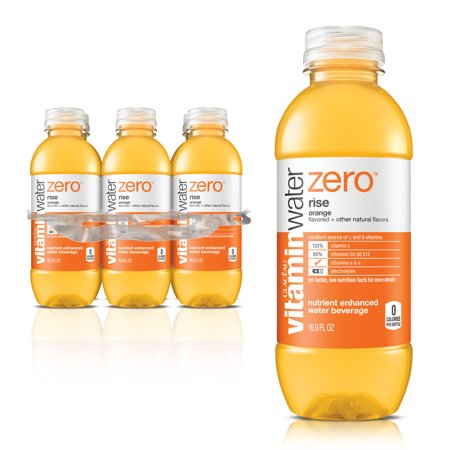 Vitaminwater Zero Rise Enhanced Water, Orange, 16.9 Fl Oz, 6