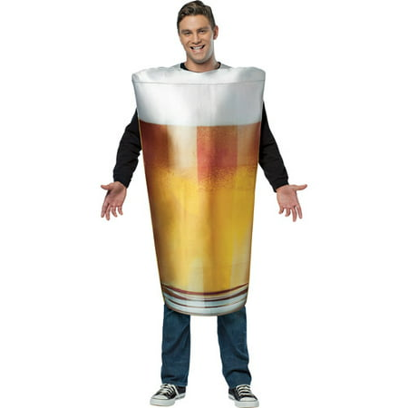 Get Real Beer Pint Adult Halloween Costume](Beer Halloween Costumes)