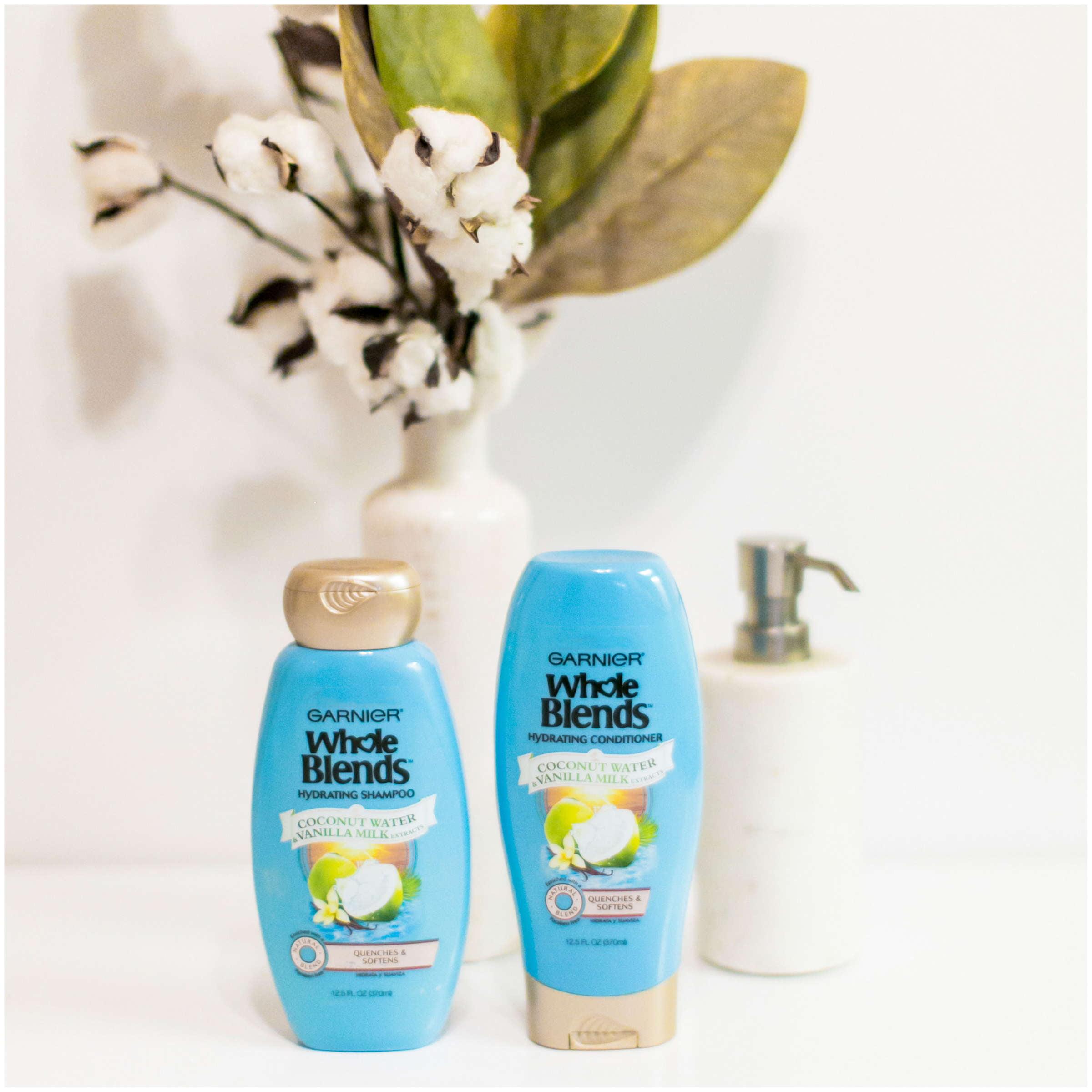 Garnier Whole Blends Shampoo with Coconut Water & Vanilla Milk Extracts  12 5 FL OZ