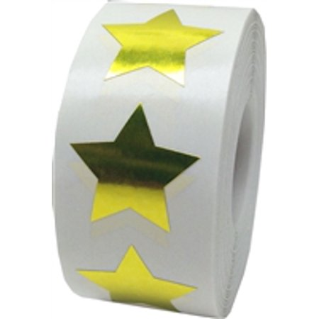 Sticker Rolls (Metallic Gold Star Stickers, 1 Inch in Size, 500 Labels on a)