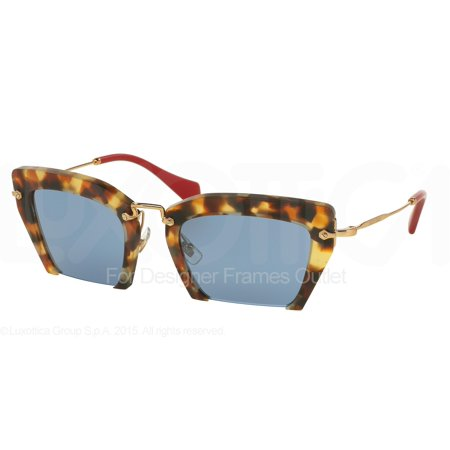 MIU MIU Sunglasses MU 10QS UA54N0 Sand Medium Havana 54MM ()
