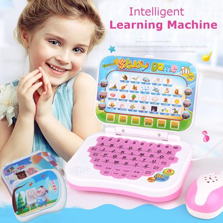 Portable Bilingual Early Educational Learning Machine Kids Laptop Toy with Mouse Computer Children Gift Developmental Toy - Educational Kids Toys