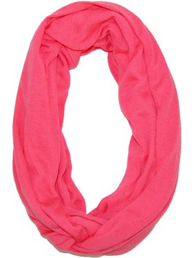 Size one size Women's Solid Infinity Loop Scarf with Hidden Zipper Pocket