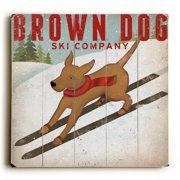 Artehouse LLC Brown Dog Ski Wall D cor