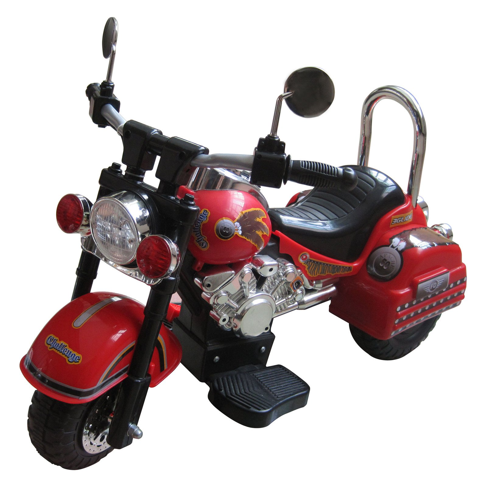 Merske Harley Style Motorcycle Battery Powered Riding Toy - Red