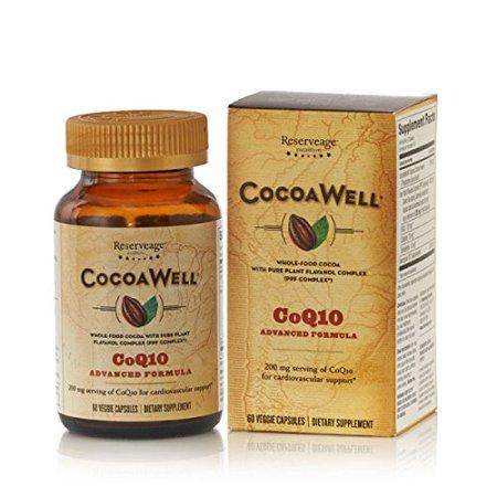 Reserveage CocoaWell CoQ10 60vcaps fórmula avanzada