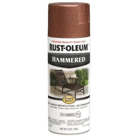 (3 Pack) Rust-Oleum Stops Rust Hammered Copper Spray Paint, 12 oz