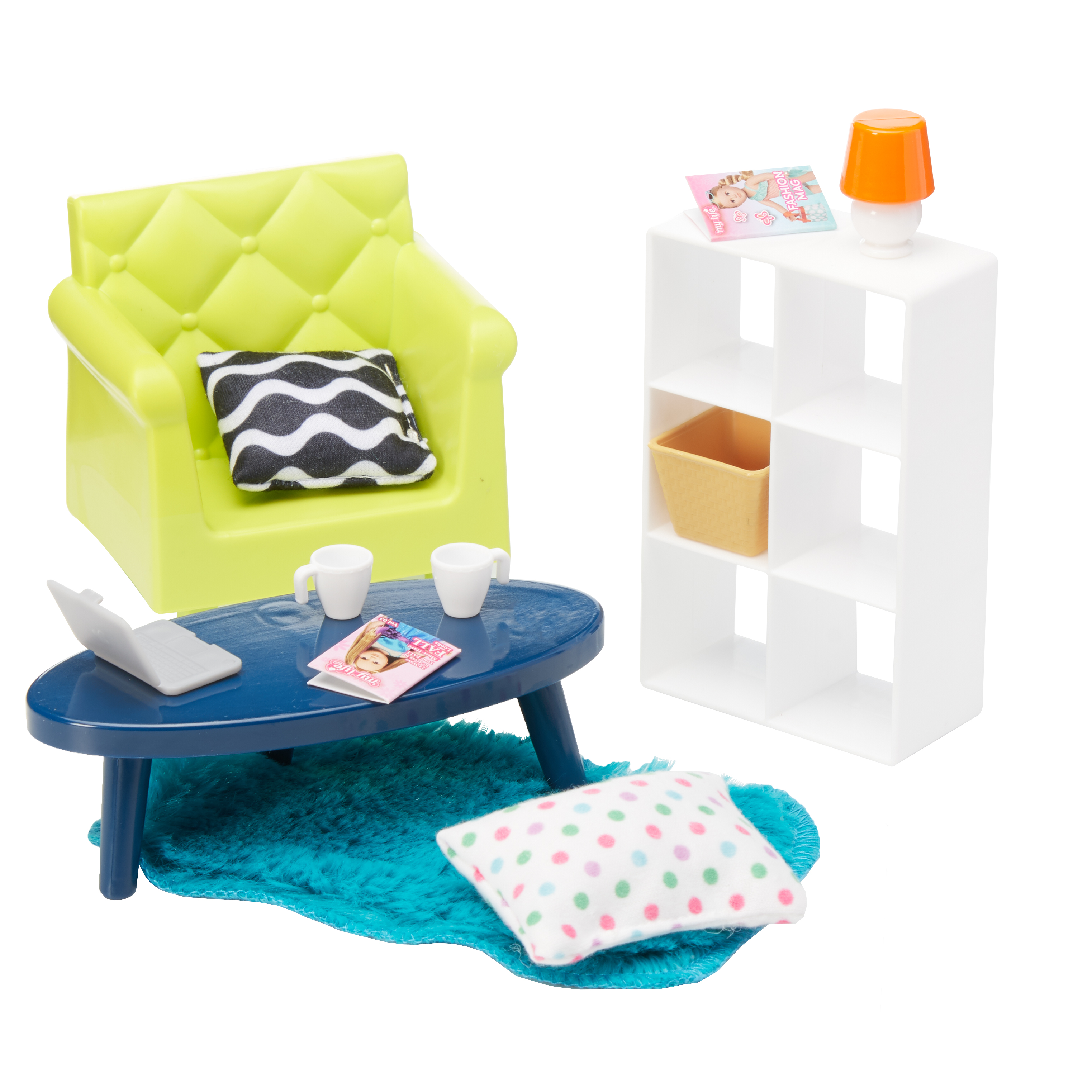 "My Life As Mini Living Room 13-Piece Play Set, for 7"" Mini Dolls"
