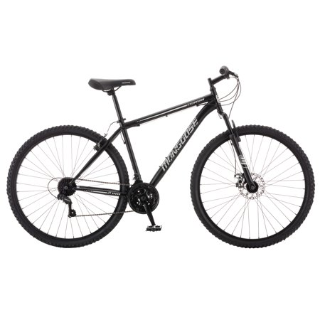 Mongoose Excursion mountain bike, 29 inch wheel, 21 speeds, mens, black (Schwarz Und Lila Mountainbike)