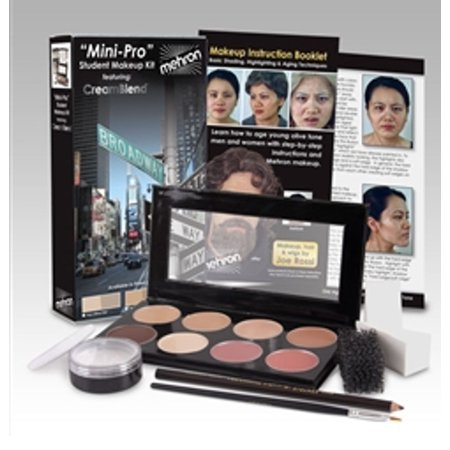 Mini-Pro Student Makeup Kit Medium/Olive Medium Mehron HD Theater Stage