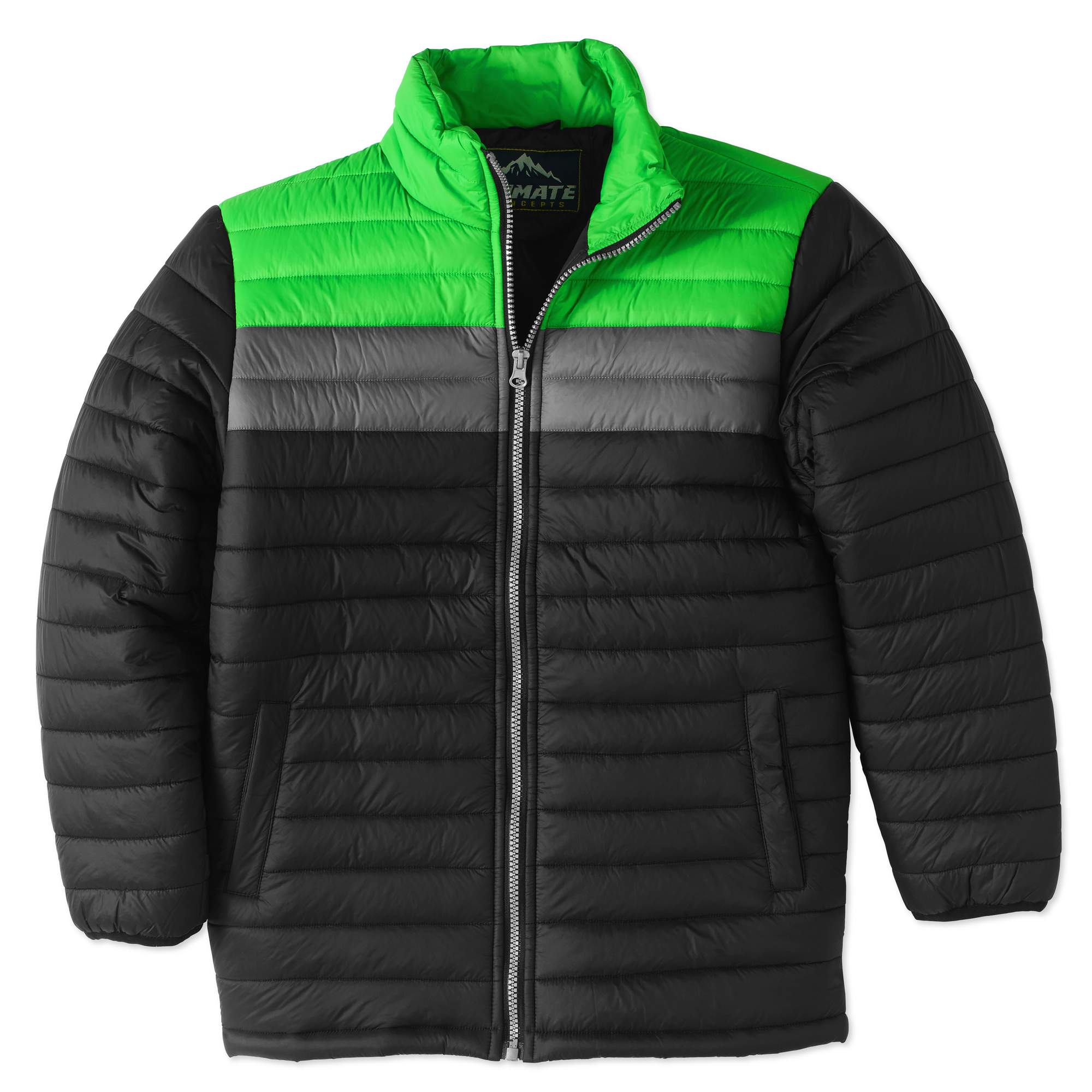 Color Block Zip Up Bubble Jacket (Little Boys & Big Boys)