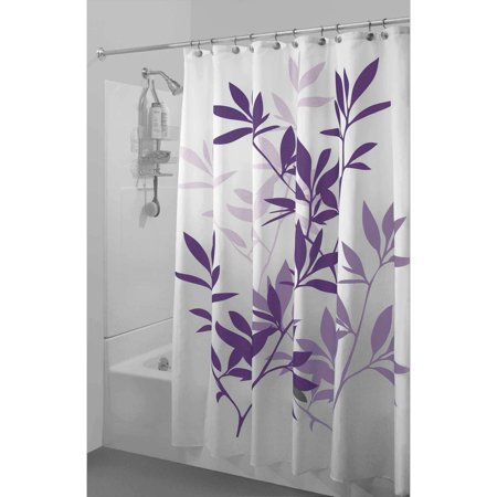 Purple And Teal Shower Curtain. InterDesign Leaves Shower Curtain  Walmart com