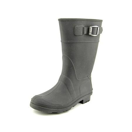 Kamik Youth Round Toe Synthetic Black Rain Boot