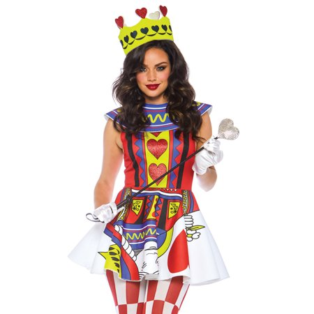 Leg Avenue Womens Card Queen of Hearts Halloween - Playing Card Queen Costume