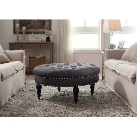 Isabelle Round Tufted Ottoman Multiple Colors