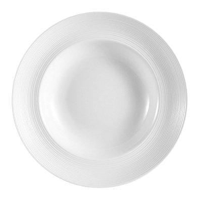 Cac China Hmy 130 12 Inch Harmony Porcelain Pasta Bowl  26 Ounce  White  Box Of 12